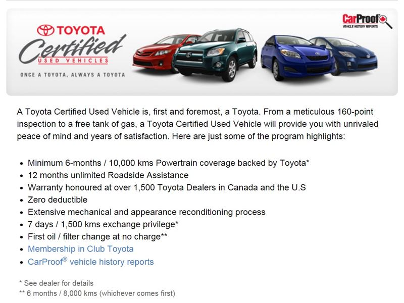 Certified Toyota