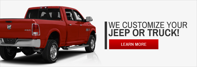 We customize your jeep or truck!